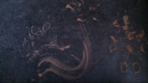 """""""Ein Morgen auf dem Lande"""" Schlamm auf Linoleum, 15x20 cm"""