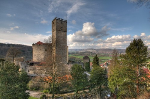 Burg Guttenberg Ansicht Schildmauer Konrad Plank, Querformat